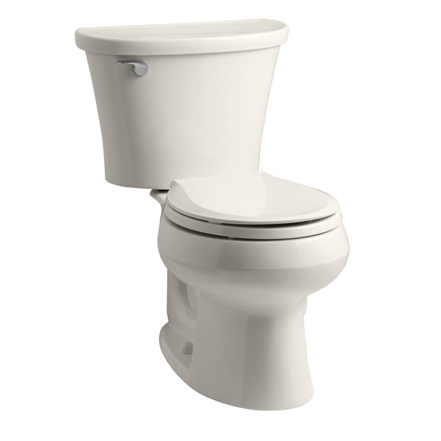 KOHLER Cavata Biscuit 1.28-GPF (4.85-LPF) 12-in Rough-in WaterSense Round 2-Piece Standard Height Toilet