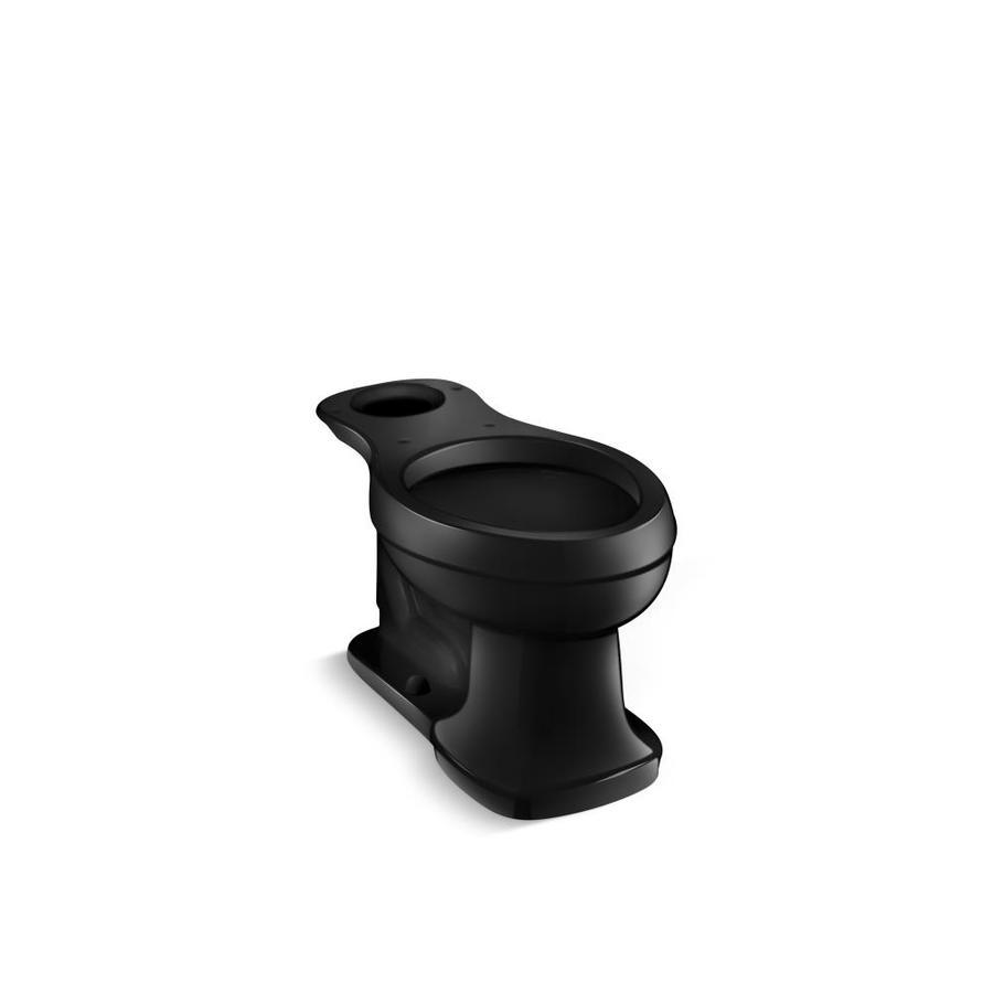 KOHLER Bancroft Comfort Height Black 12-in Rough-in Elongated Toilet Bowl