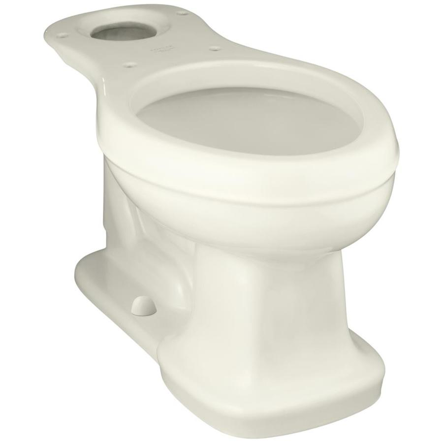 KOHLER Bancroft Chair Height Biscuit 12-in Rough-In Elongated Toilet Bowl