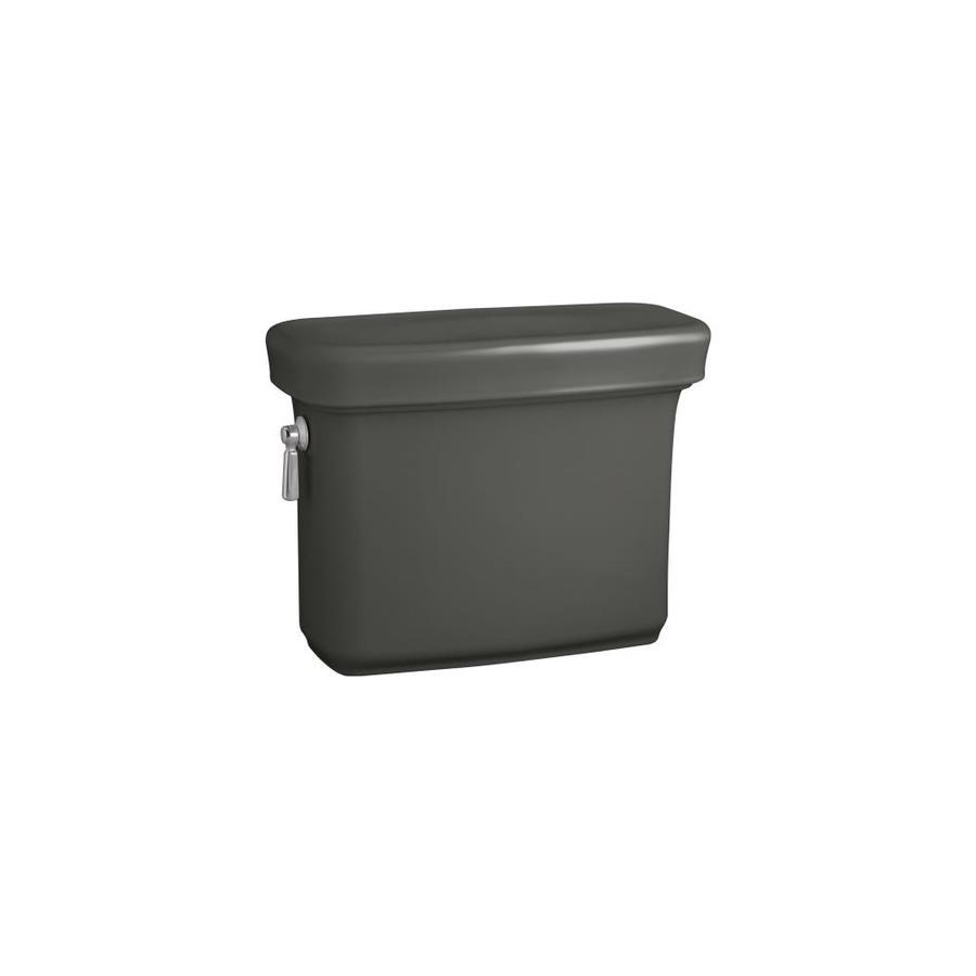 KOHLER Bancroft Thunder Grey 1.28-GPF (4.85-LPF) 12-in Rough-In Single-Flush High-Efficiency Toilet Tank