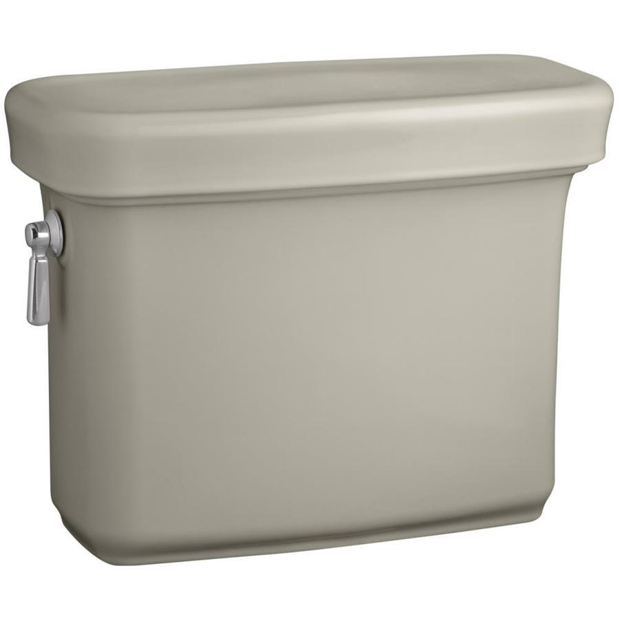 KOHLER Bancroft Sandbar 1.28-GPF (4.85-LPF) 12-in Rough-In Single-Flush High-Efficiency Toilet Tank