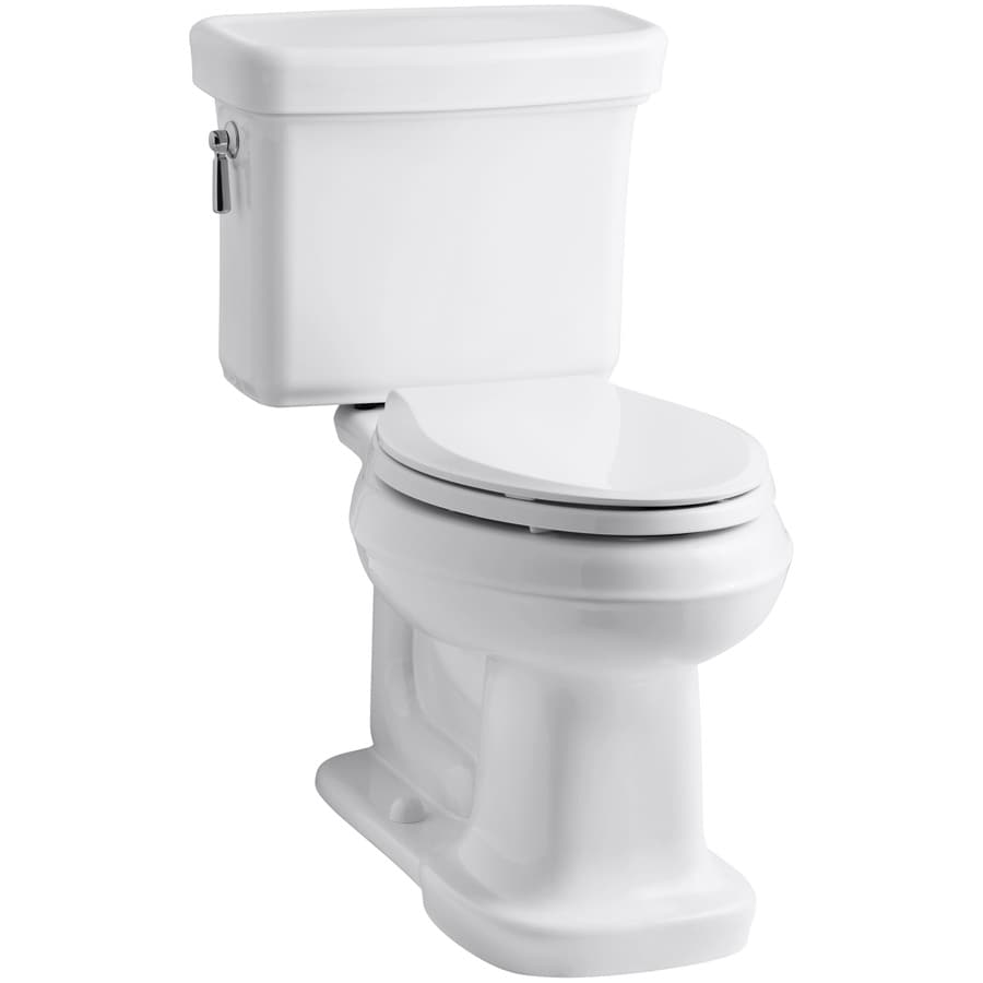 KOHLER Bancroft White 1.28-GPF (4.85-LPF) 12 Rough-In WaterSense Elongated 2-Piece Chair Height Toilet