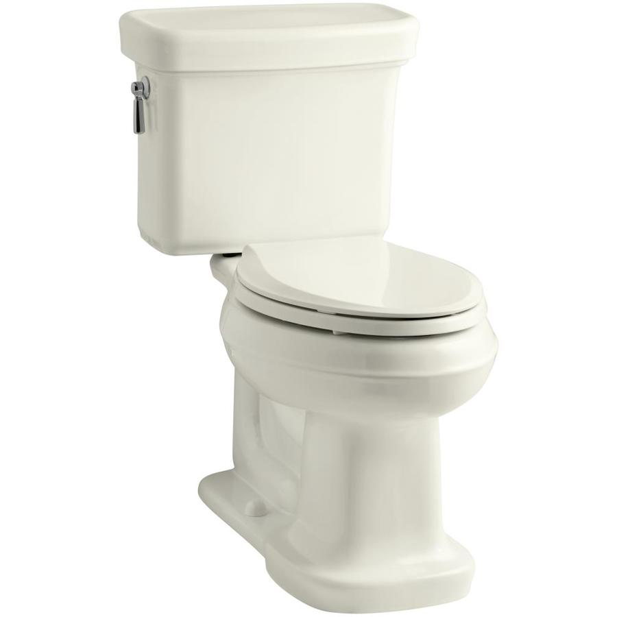 KOHLER Bancroft Biscuit 1.28-GPF (4.85-LPF) 12 Rough-In WaterSense Elongated 2-Piece Chair Height Toilet