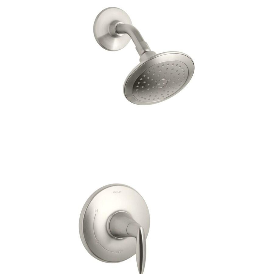 Shop Kohler Alteo Vibrant Brushed Nickel 1 Handle Shower