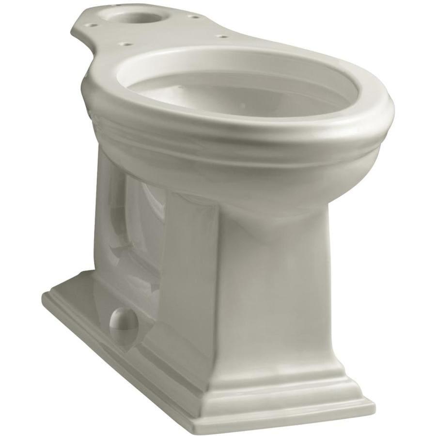 KOHLER Memoirs Chair Height Sandbar 12-in Rough-In Elongated Toilet Bowl