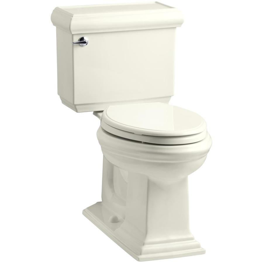 KOHLER Memoirs Biscuit 1.28-GPF (4.85-LPF) 12 Rough-In WaterSense Elongated 2-Piece Chair Height Toilet