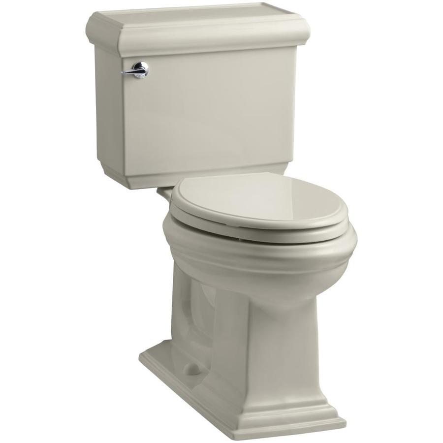 KOHLER Memoirs Sandbar 1.28-GPF (4.85-LPF) 12 Rough-In WaterSense Elongated 2-Piece Chair Height Toilet