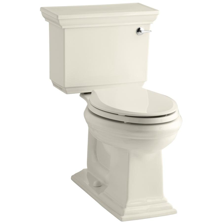 KOHLER Memoirs Almond 1.28-GPF (4.85-LPF) 12 Rough-In WaterSense Elongated 2-Piece Chair Height Toilet