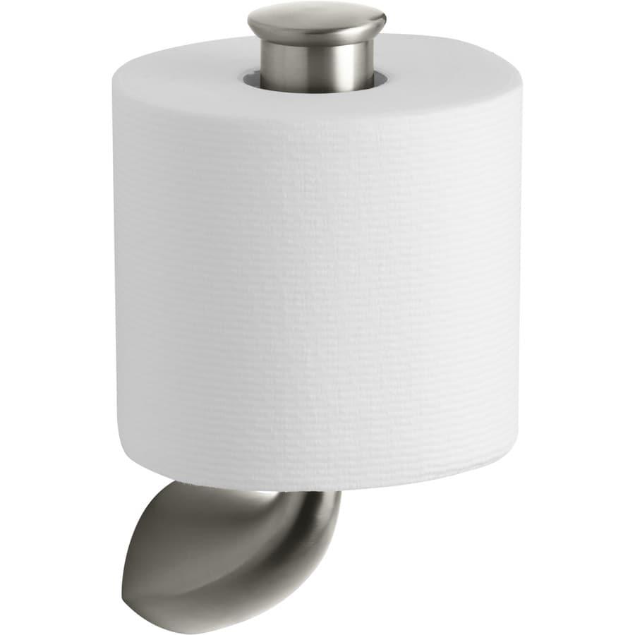 KOHLER Alteo Vibrant Brushed Nickel Surface Mount Single Post Toilet Paper Holder