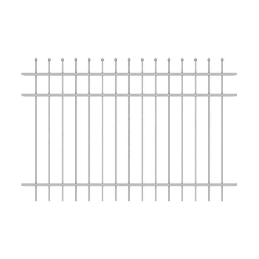 Ironcraft Orleans White Powder-Coated Aluminum Decorative Fence Panel (Common: 6-ft x 4-ft; Actual: 6-ft x 4-ft)