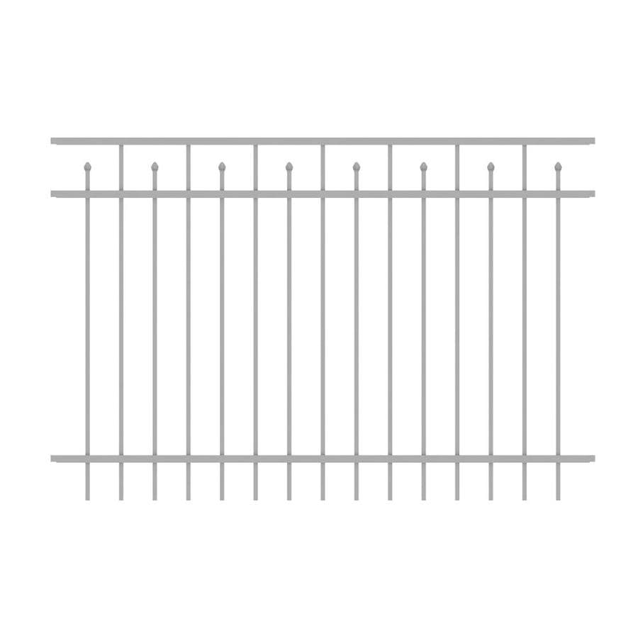 Ironcraft Hempsted White Powder-Coated Aluminum Decorative Fence Panel (Common: 6-ft x 4-ft; Actual: 6-ft x 4-ft)