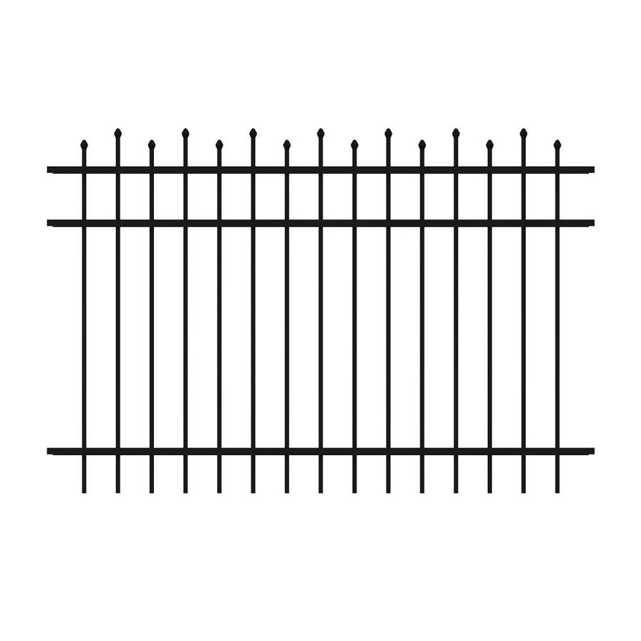 Ironcraft Truro Black Powder-Coated Aluminum Decorative Fence Panel (Common: 6-ft x 4-ft; Actual: 6-ft x 4-ft)