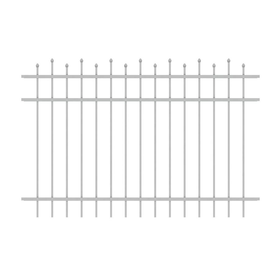 Ironcraft Truro White Powder-Coated Aluminum Decorative Fence Panel (Common: 6-ft x 4-ft; Actual: 6-ft x 4-ft)