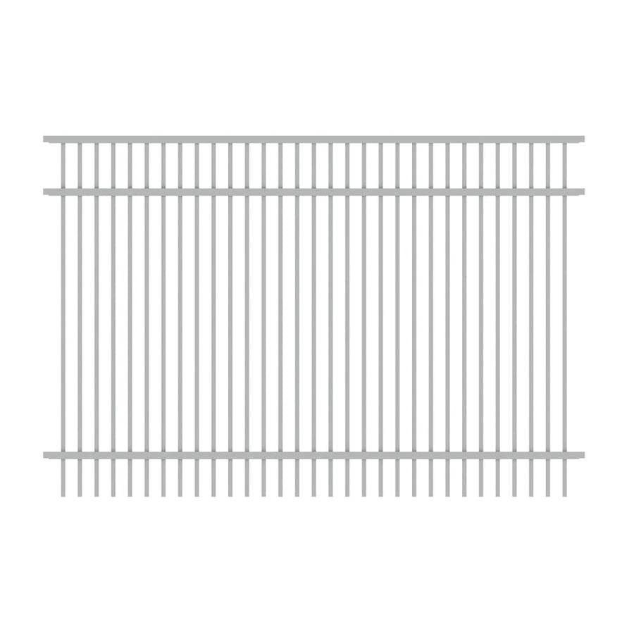 Ironcraft Cheshire White Powder-Coated Aluminum Decorative Fence Panel (Common: 6-ft x 4-ft; Actual: 6-ft x 4-ft)