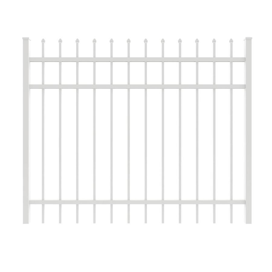 Ironcraft White Powder-Coated Aluminum Decorative Fence Gate (Common: 5-ft x 4-ft; Actual: 4.92-ft x 4-ft)