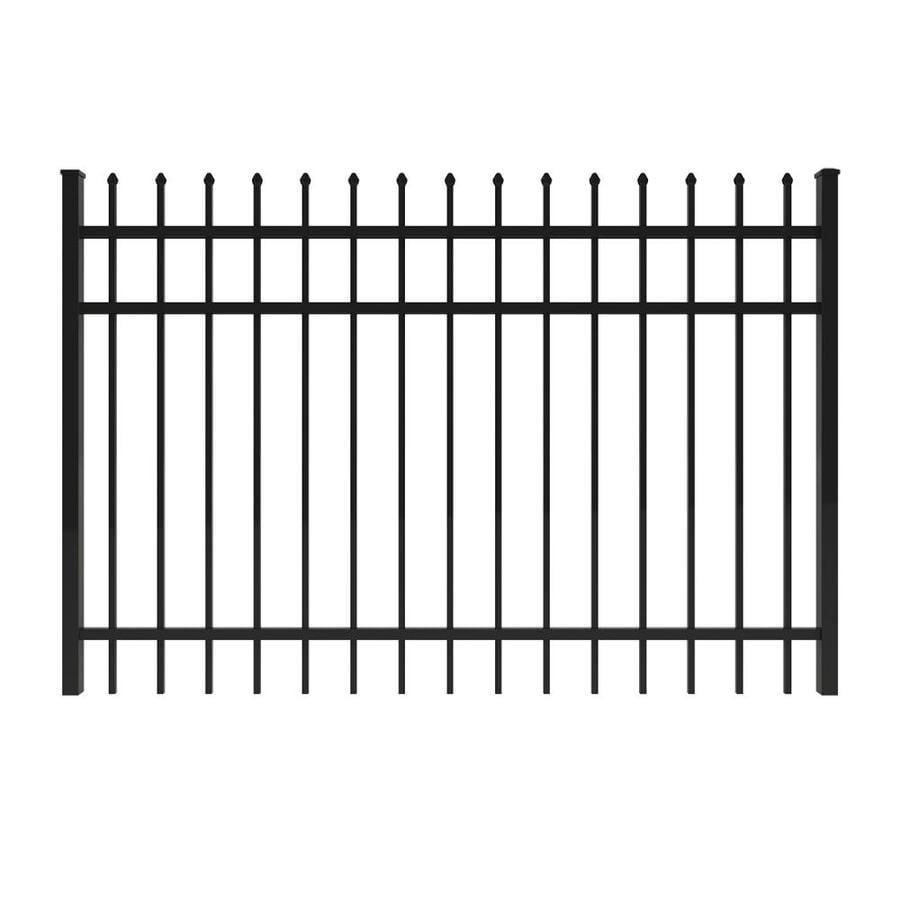 Ironcraft Black Powder-Coated Aluminum Decorative Fence Gate (Common: 6-ft x 4-ft; Actual: 5.92-ft x 4-ft)