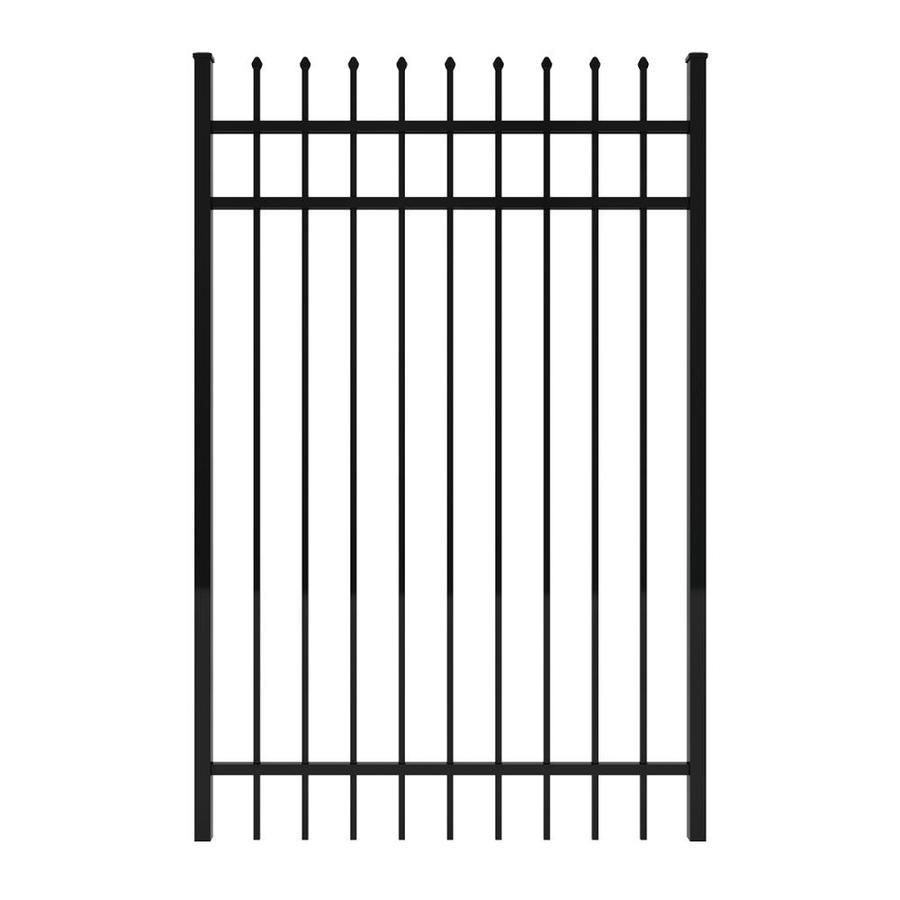 Ironcraft Black Powder-Coated Aluminum Decorative Fence Gate (Common: 4-ft x 6-ft; Actual: 3.92-ft x 6-ft)