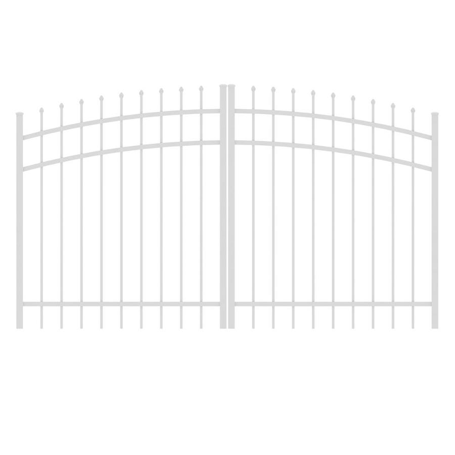 Ironcraft White Powder-Coated Aluminum Decorative Fence Gate (Common: 8-ft x 4-ft; Actual: 7.83-ft x 4-ft)