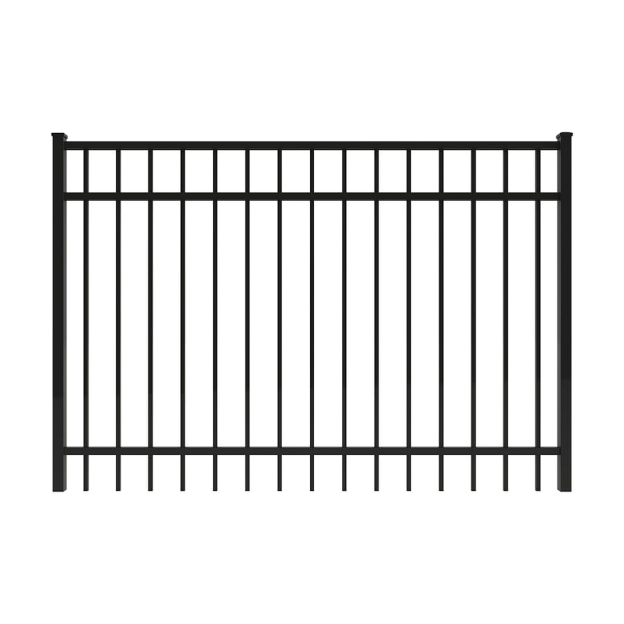 Ironcraft Black Powder-Coated Aluminum Decorative Fence Gate (Common: 6-ft x 4-ft; Actual: 5.92-ft x 4-ft)
