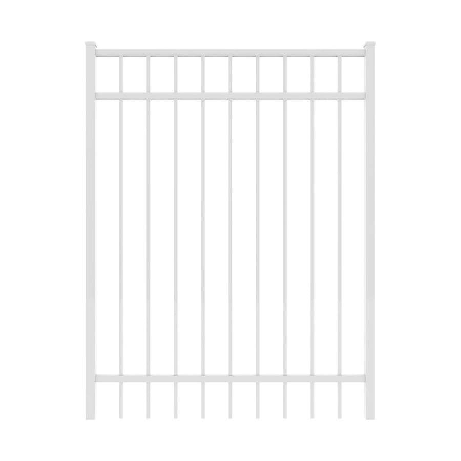 Ironcraft White Powder-Coated Aluminum Decorative Fence Gate (Common: 4-ft x 5-ft; Actual: 3.92-ft x 5-ft)