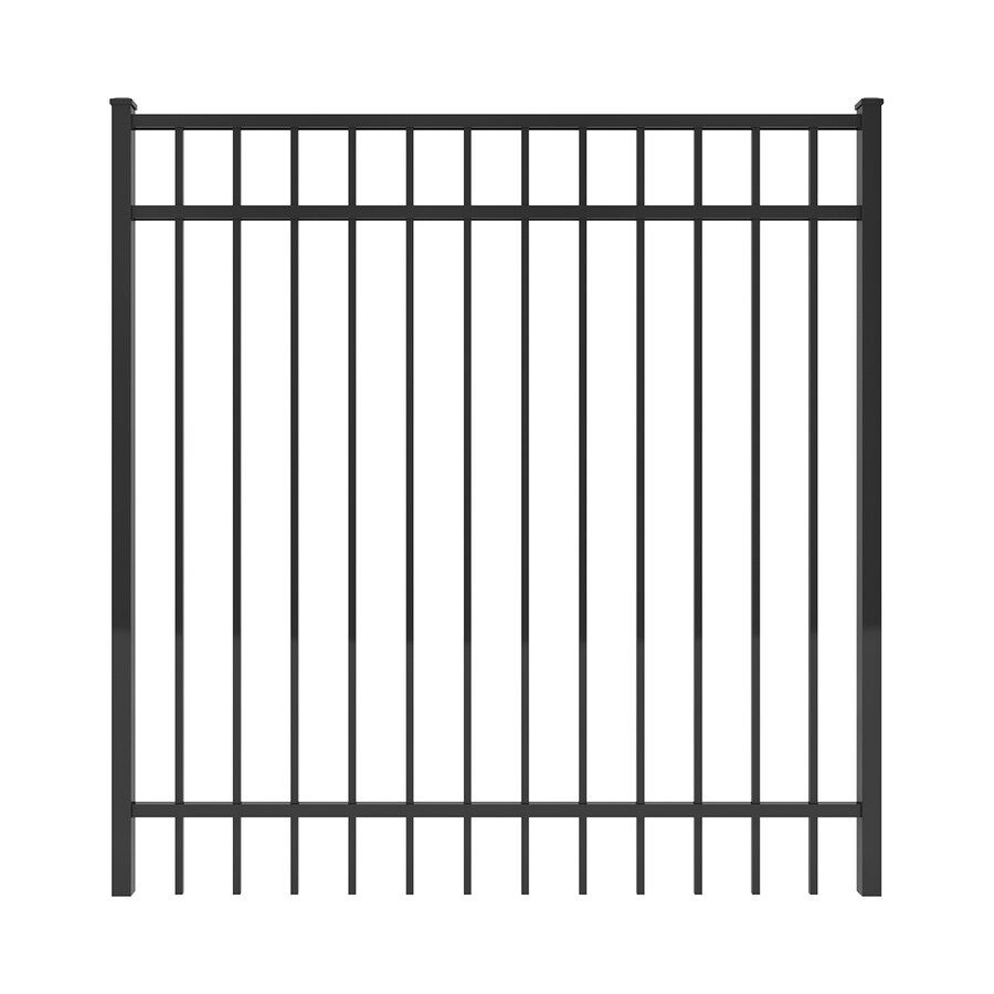 Ironcraft Black Powder-Coated Aluminum Decorative Fence Gate (Common: 5-ft x 5-ft; Actual: 4.92-ft x 5-ft)