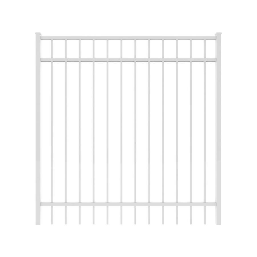 Ironcraft White Powder-Coated Aluminum Decorative Fence Gate (Common: 5-ft x 5-ft; Actual: 4.92-ft x 5-ft)
