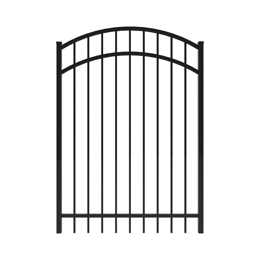 Ironcraft Black Powder-Coated Aluminum Decorative Fence Gate (Common: 4-ft x 5-ft; Actual: 3.92-ft x 5-ft)