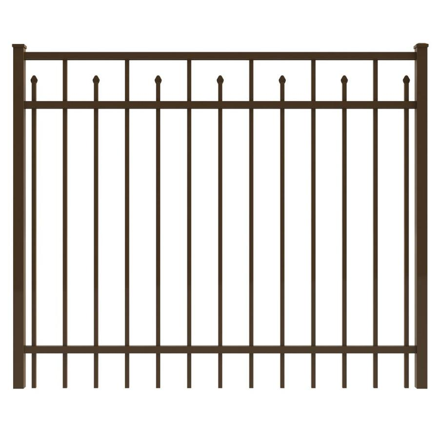 Ironcraft Bronze Powder-Coated Aluminum Decorative Fence Gate (Common: 6-ft x 4-ft; Actual: 5.92-ft x 4-ft)
