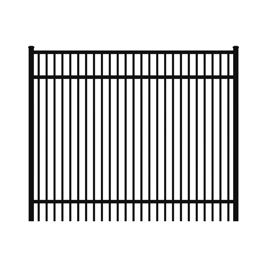 Ironcraft Black Powder-Coated Aluminum Decorative Fence Gate (Common: 5-ft x 4-ft; Actual: 4.92-ft x 4-ft)