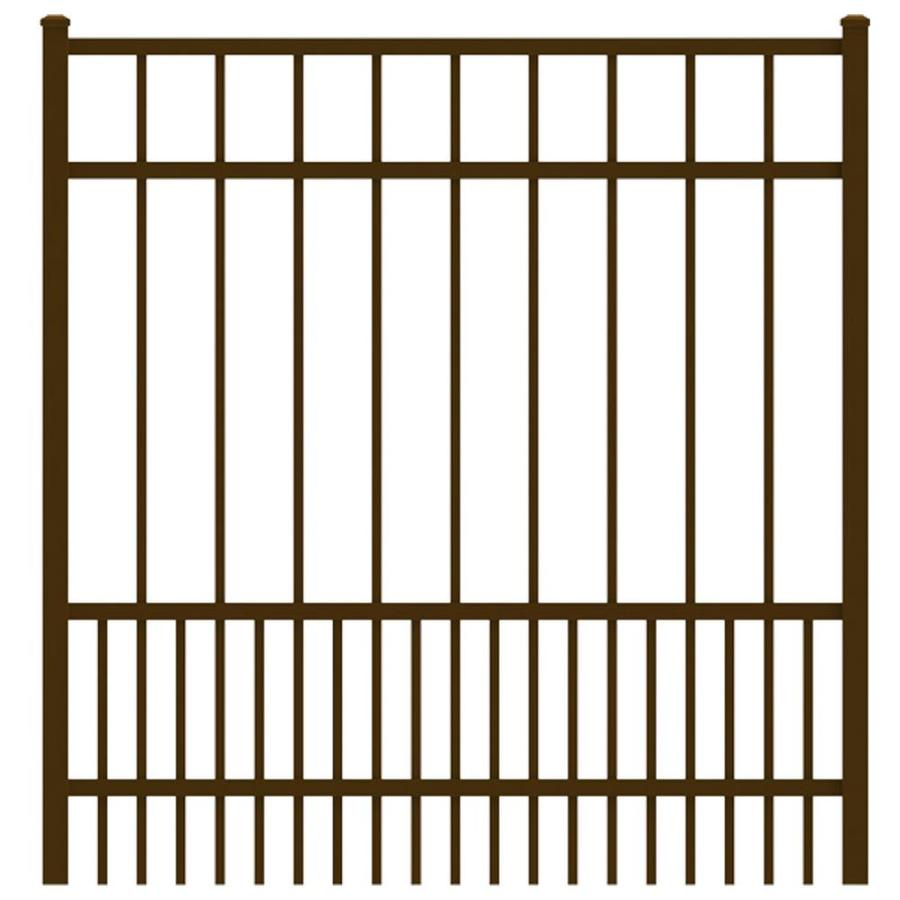 Ironcraft Bronze Powder-Coated Aluminum Decorative Fence Gate (Common: 4-ft x 4-ft; Actual: 3.92-ft x 4-ft)