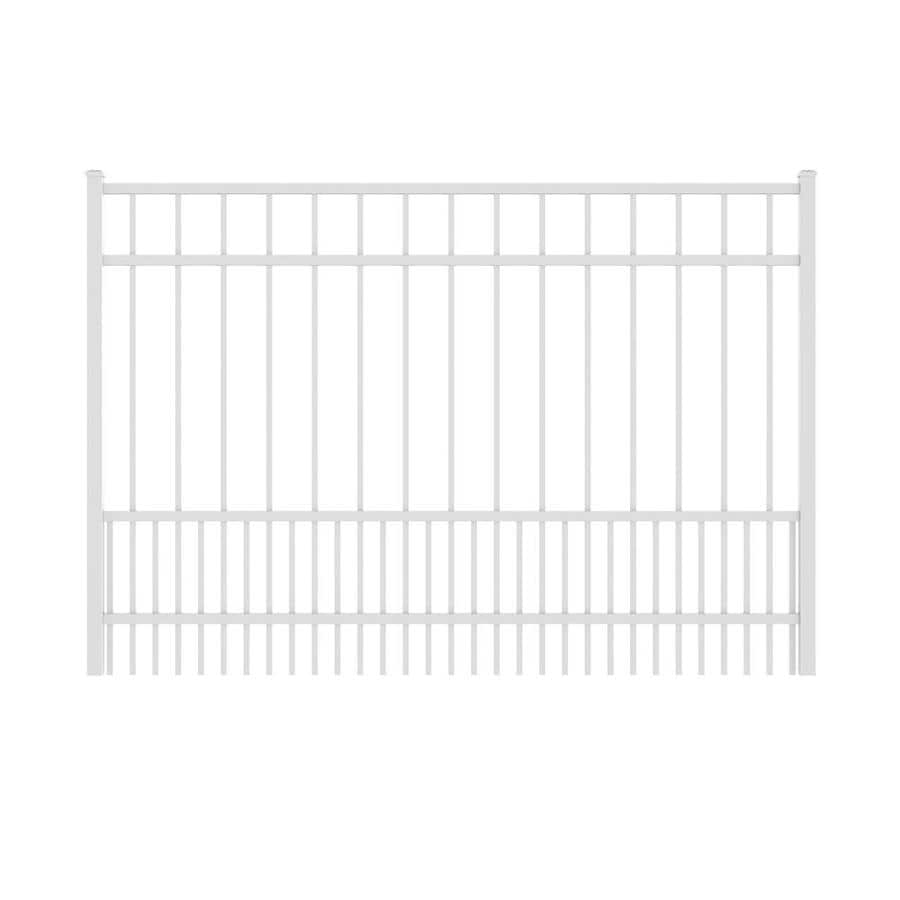 Ironcraft White Powder-Coated Aluminum Decorative Fence Gate (Common: 6-ft x 4-ft; Actual: 5.92-ft x 4-ft)