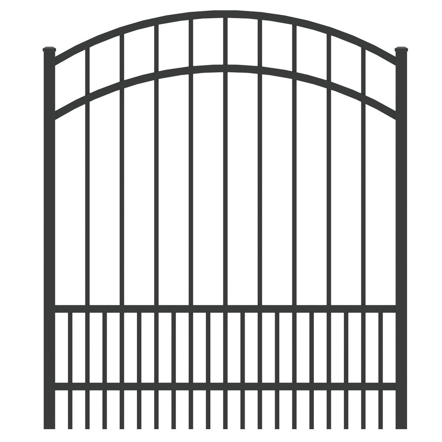 Ironcraft Black Powder-Coated Aluminum Decorative Fence Gate (Common: 4-ft x 4-ft; Actual: 3.92-ft x 4-ft)