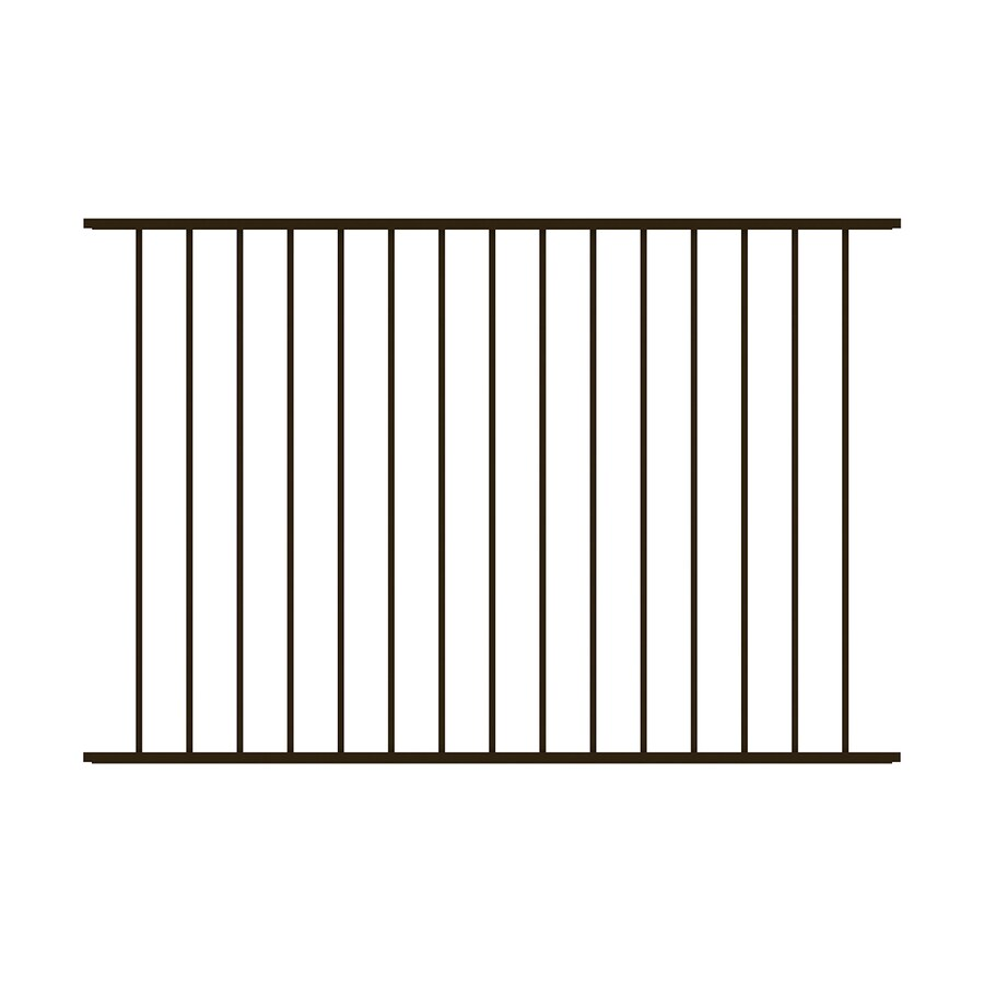 Ironcraft Ironcraft Black Powder Coated Metal Aluminum Decorative Fence Panel (Common: 6-ft x 4-ft; Actual: 6.025-ft x 4-ft)
