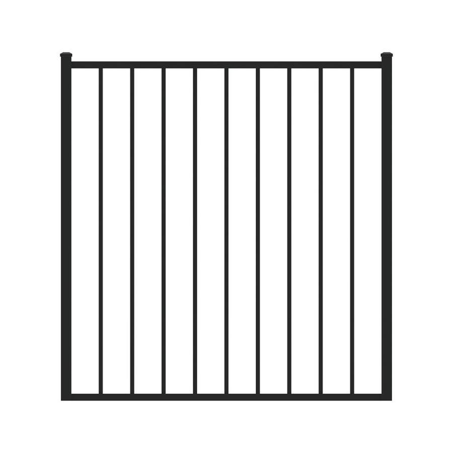 Ironcraft Black Powder-Coated Aluminum Decorative Fence Gate (Common: 4-ft x 4-ft; Actual: 3.92-ft x 4-ft)