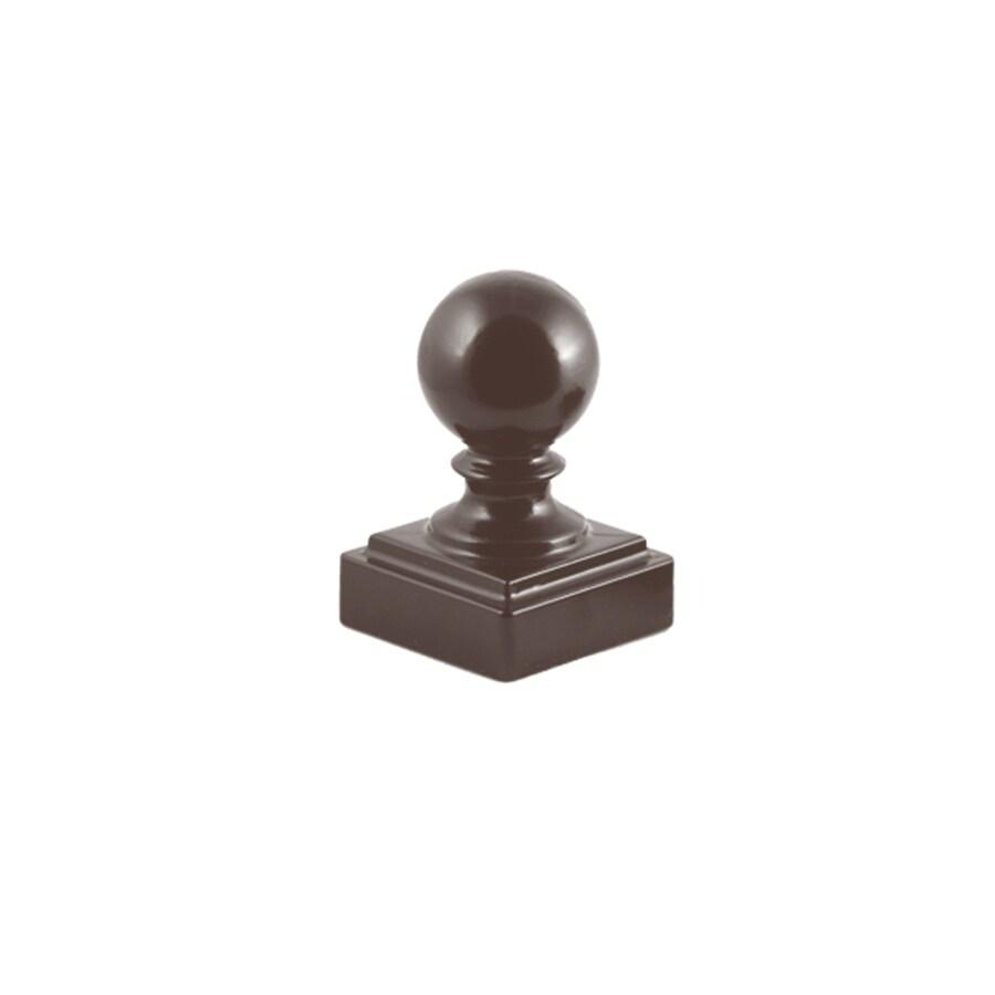 Ironcraft Bronze Aluminum Fence Post Cap (Fits Common Post Measurement: 2-in x 2-in; Actual: 2-in x 2-in)