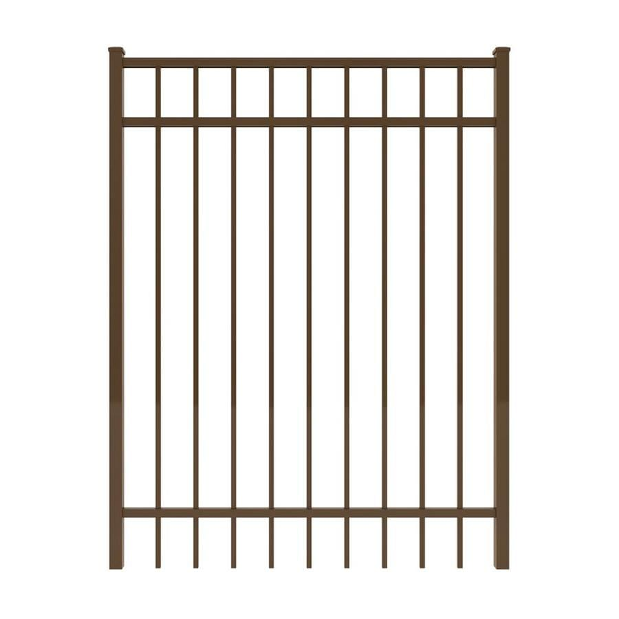 Ironcraft Bronze Powder-Coated Aluminum Decorative Fence Gate (Common: 4-ft x 5-ft; Actual: 3.92-ft x 5-ft)