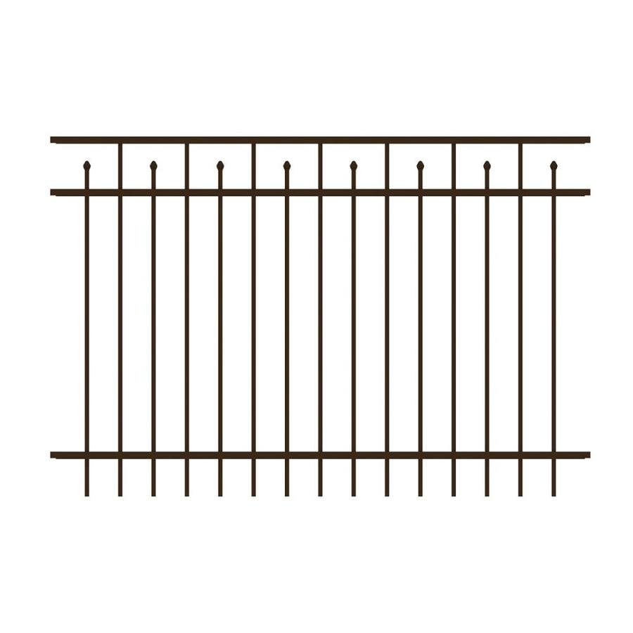 Ironcraft Hempsted Bronze Powder-Coated Aluminum Decorative Fence Panel (Common: 6-ft x 4-ft; Actual: 6-ft x 4-ft)
