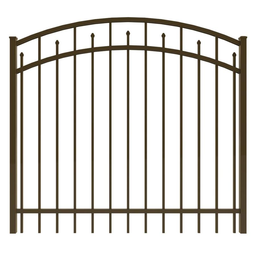 Ironcraft Bronze Powder-Coated Aluminum Decorative Fence Gate (Common: 5-ft x 4-ft; Actual: 4.92-ft x 4-ft)