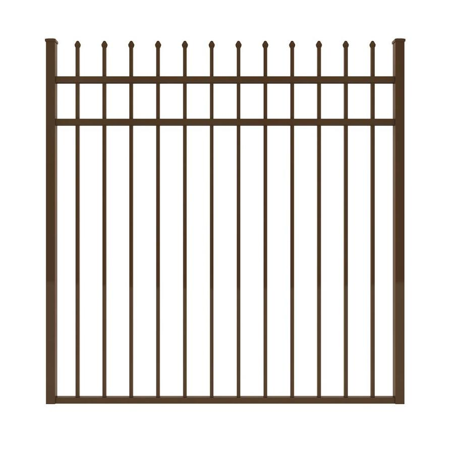 Ironcraft Bronze Powder-Coated Aluminum Decorative Fence Gate (Common: 5-ft x 5-ft; Actual: 4.92-ft x 5-ft)