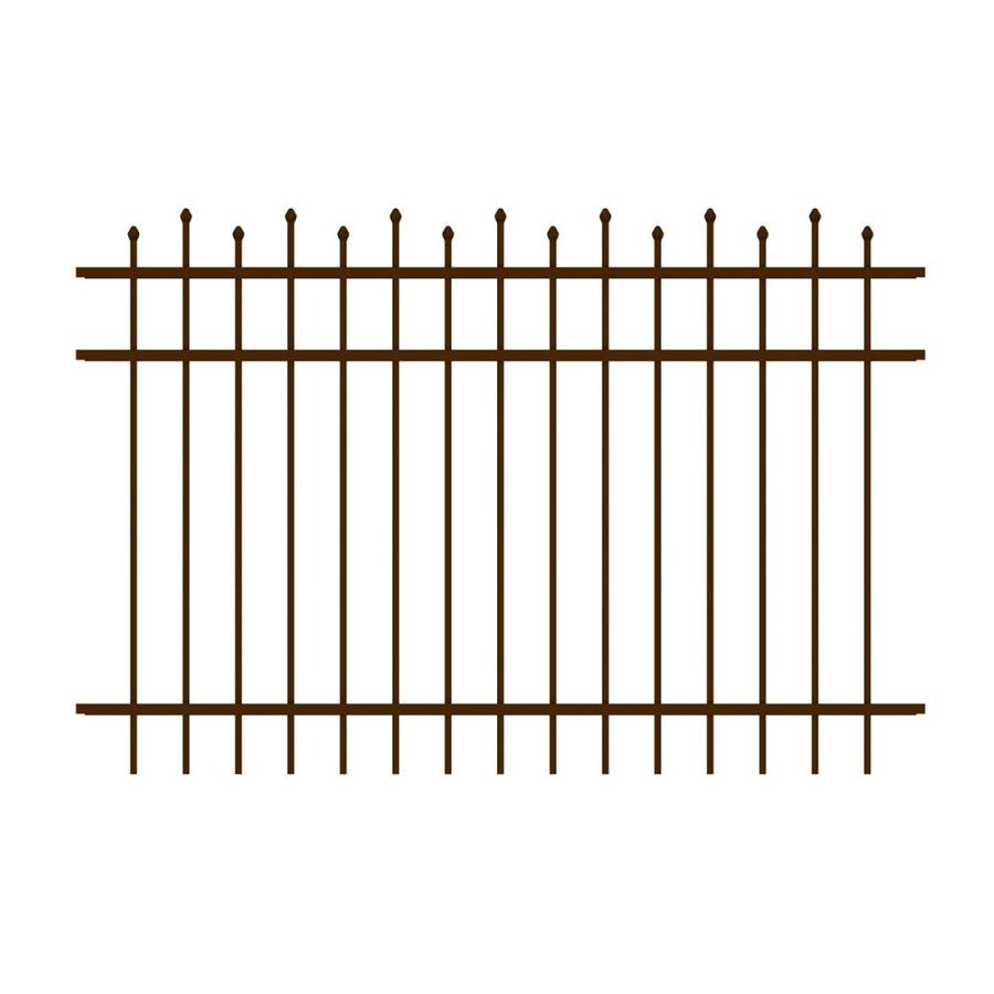 Ironcraft Truro Bronze Powder-Coated Aluminum Decorative Fence Panel (Common: 6-ft x 4-ft; Actual: 6-ft x 4-ft)