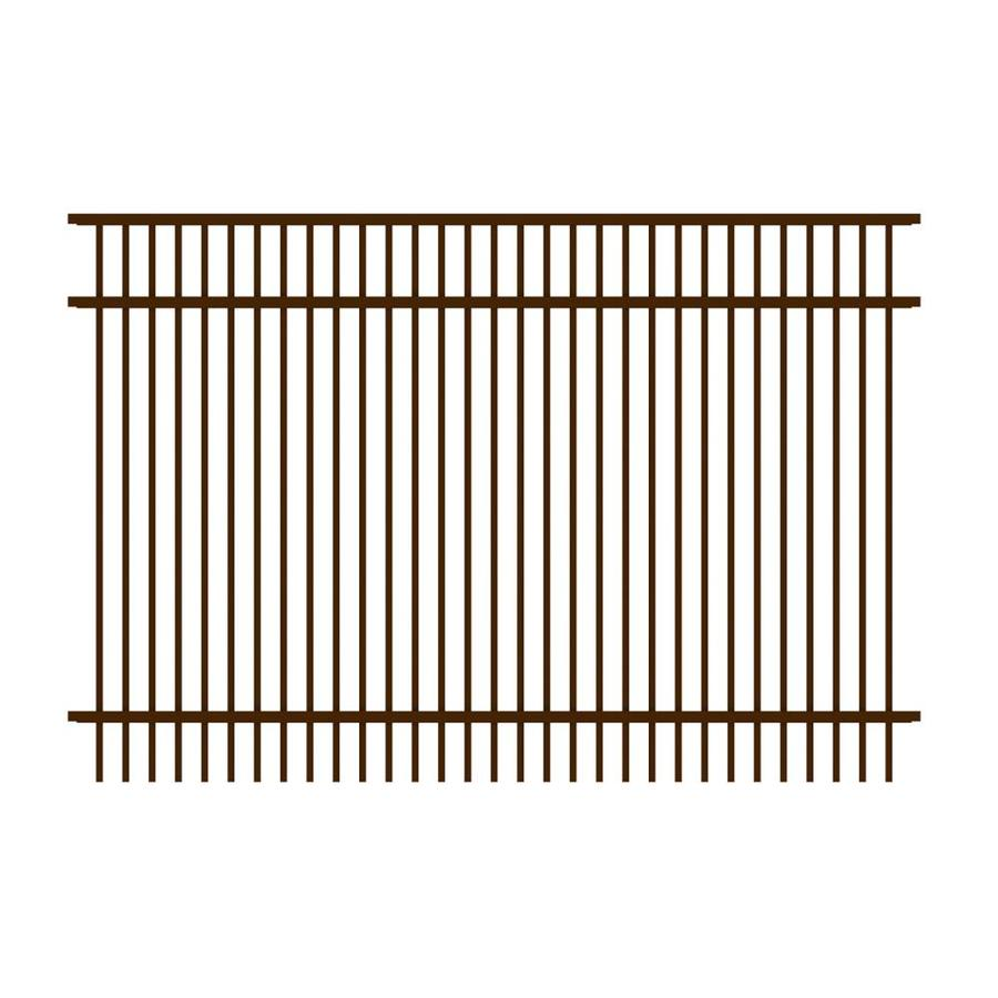 Ironcraft Cheshire Bronze Powder-Coated Aluminum Decorative Fence Panel (Common: 6-ft x 4-ft; Actual: 6-ft x 4-ft)