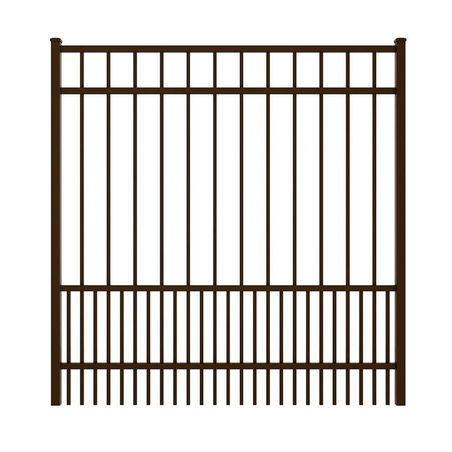 Ironcraft Bronze Powder Coated Aluminum Decorative Fence Gate (Common: 6-ft x 5-ft; Actual: 5.92-ft x 5.08-ft)
