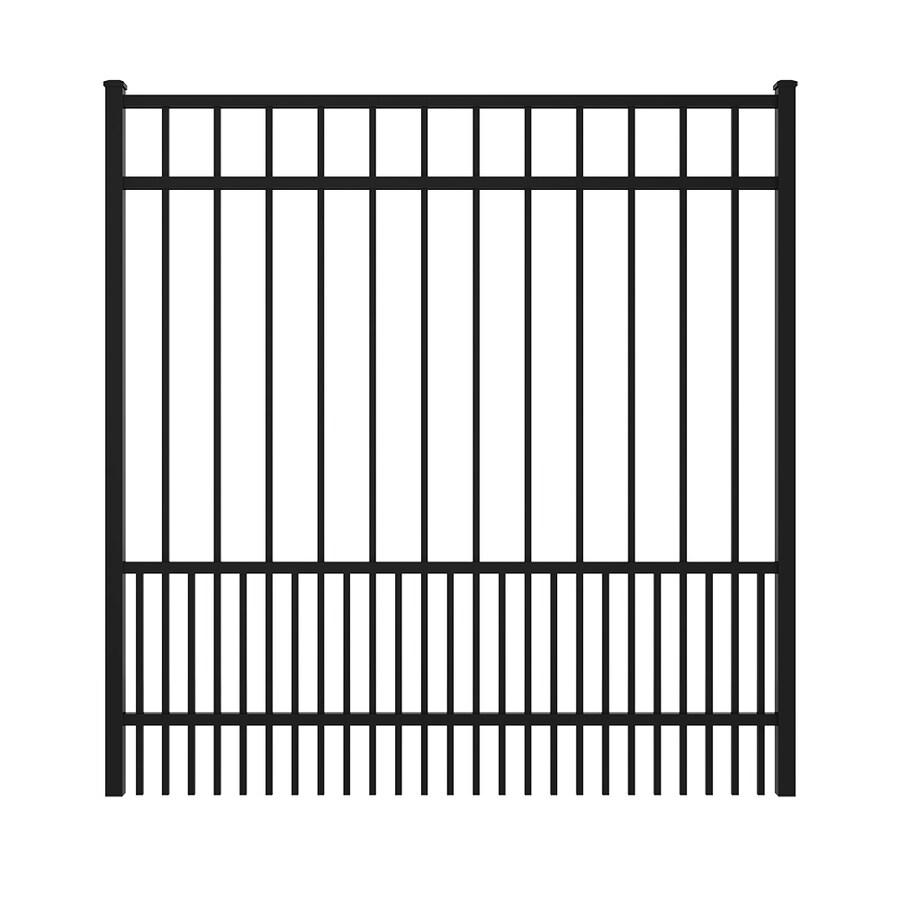 Ironcraft Black Powder Coated Aluminum Decorative Fence Gate (Common: 5-ft x 5-ft; Actual: 4.92-ft x 5.08-ft)