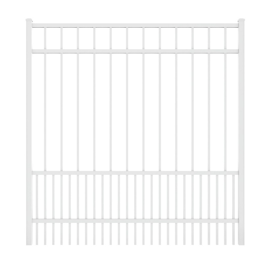 Ironcraft White Powder Coated Aluminum Decorative Fence Gate (Common: 5-ft x 5-ft; Actual: 4.92-ft x 5.08-ft)