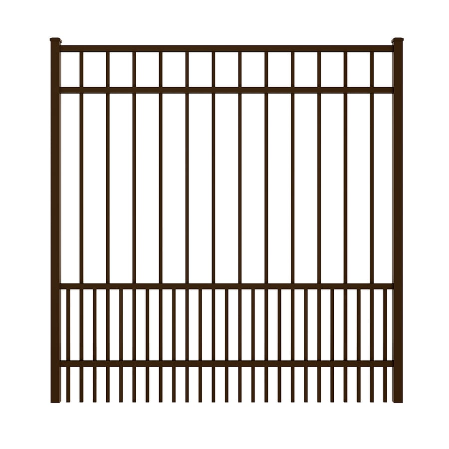 Ironcraft Bronze Powder Coated Aluminum Decorative Fence Gate (Common: 5-ft x 5-ft; Actual: 4.92-ft x 5.08-ft)