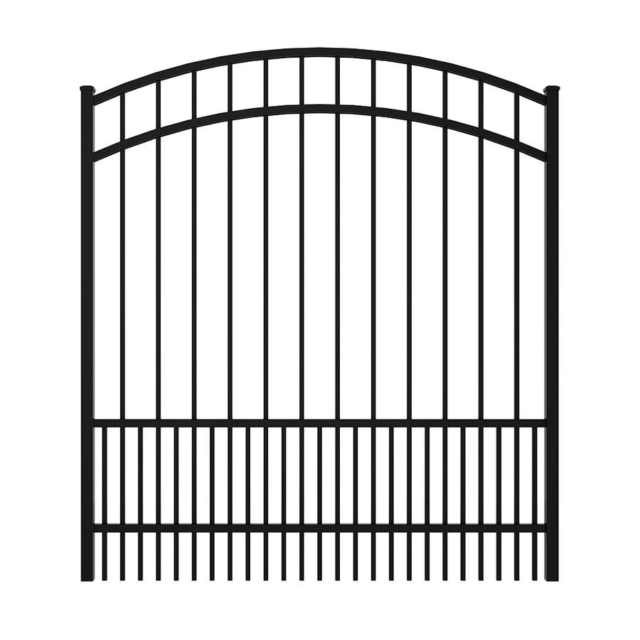 Ironcraft Black Powder Coated Aluminum Decorative Fence Gate (Common: 5-ft x 5-ft; Actual: 4.92-ft x 5.5-ft)