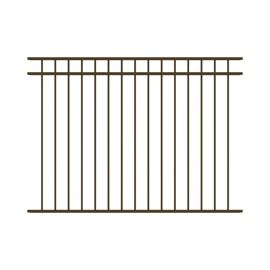 Ironcraft Berkshire Bronze Powder-Coated Aluminum Decorative Fence Panel (Common: 6-ft x 4.5-ft; Actual: 6-ft x 4.5-ft)