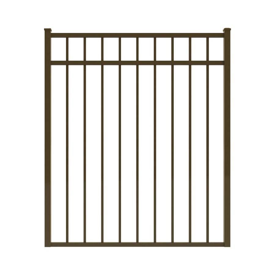 Ironcraft Bronze Powder-Coated Aluminum Decorative Fence Gate (Common: 4-ft x 4.3-ft; Actual: 3.92-ft x 4.3-ft)