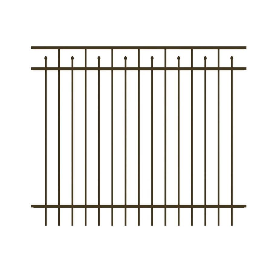 Ironcraft Hempsted Bronze Powder-Coated Aluminum Decorative Fence Panel (Common: 6-ft x 5-ft; Actual: 6-ft x 5-ft)