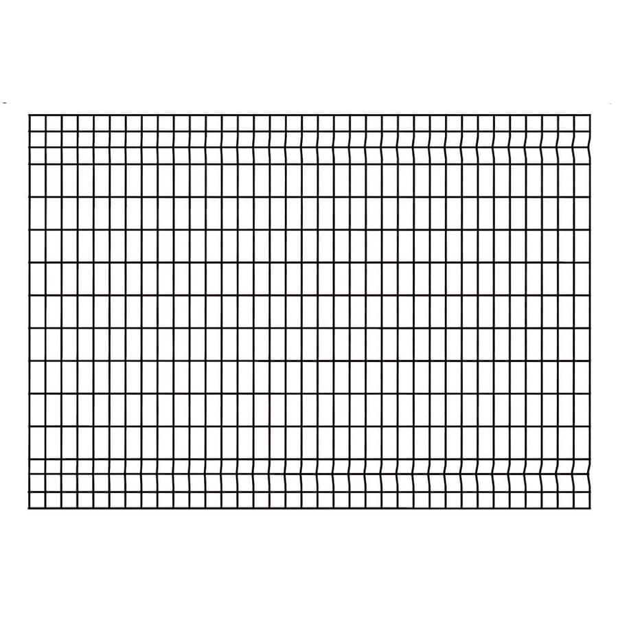 Ironcraft Euro Black Powder-Coated Metal Steel Decorative Fence Panel (Common: 6-ft x 4-ft; Actual: 5.9-ft x 4-ft)